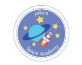 Individuelle Weltraum Akademie Wandtattoo von Stickerscape - Wandaufkleber (Reguläres Größe)