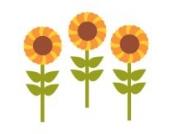 Sonnenblume Wandtattoo von Stickerscape - Wandaufkleber (Großes Größe)