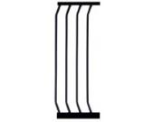 Emmay Care Türschutzgitter Verlängerung, schwarz, 72.5 cm Höhe, 27 cm Breite