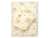 4tlg. Babybettwäsche Set Baumwolle Kinderbettwäsche Bettwäsche Baby Decke Kissen D9