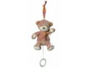 Fehn 160055 Mini-Spieluhr Teddy / Kuscheltier mit integriertem Spielwerk mit sanfter Melodie zum Aufhängen an Kinderwagen, Babyschale oder Bett, für Babys und Kleinkinder ab 0+ Monaten