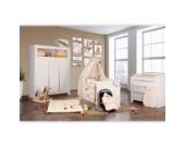 Babyzimmer Felix in weiss 19 tlg. mit 3 türigem Kl von Cute Bear in beige