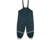 PLAYSHOES Boys Regenträgerhose mit Fleecefutter marine