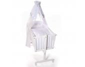 Easy Baby Wiege mit Ausstattung white hearts 40x90 cm