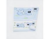 Kinderwagen-Deckenbezug Stubenwagen-Deckenbezug Deckenbezug ca. 70x50 (Muster: Hund mit Knochen_puderblau)