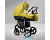 Akjax Fobos Plus 3in1 - Alurahmen - Kombikinderwagen - Kinderwagen - Buggy - Babyschale Farbe gelb