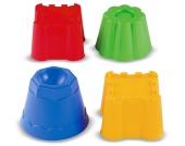 Ecoiffier Netz mit 4 Burgsandformen [Kinderspielzeug]