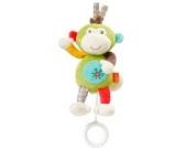 Fehn 074024 Mini-Spieluhr Affe / Kuscheltier mit integriertem Spielwerk mit sanfter Melodie zum Aufhängen an Kinderwagen, Babyschale oder Bett, für Babys und Kleinkinder ab 0+ Monaten