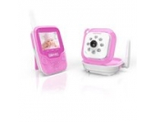 Duronic B101P Drahtloses Babyphone-Set mit Video- und Überwachungskamera und integrierte Nachtsicht – 250m Reichweite – Rosa