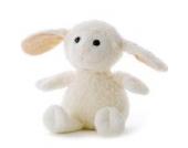 Stofftier Schaf individuell bestickt - Einseitig mit max. 10 Zeichen - von STEINER - Kuscheltier handgefertigt in Deutschland