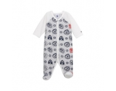 Petit Bateau Boys Baby Overall grey - bunt - Jungen