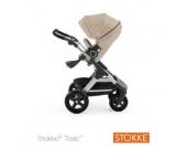 STOKKE ® Trailz™ Gestell und Sitz mit Geländerädern Beige Melange - beige