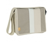 LÄSSIG Wickeltasche Casual Messenger Bag Line-up sand - beige