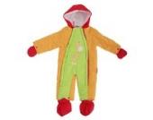 Baby Schneeanzug mit Kapuze, Giraffe, Bunt (0-3 Monate (50-56)) (Orange/Limette)