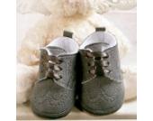 Babyschuhe für Jungen Winterschuhe festliche Taufschuhe grau Schnürer Modell 4877-g (20(12-15 M.))