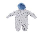 Baby Schneeanzug mit Kapuze, Dinosaurier (Neugeborene) (Weiß)