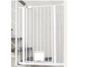 IMPAG Treppenschutzgitter Nala für Geländer | inkl. 2 Y-Adapter passend für 75cm - 149cm | Höhe 105cm | ohne Bohren | 4 Farben | einfache Montage | Treppen-Gitter Baby Kleinkind Hund