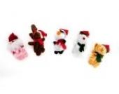 Weihnachten Weihnachtsmann Pinguin Fingerpuppen Plüschtier Spielzeug Puppe Baby Stories Helper