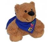 Teddy Bär Kuscheltier mit Halstuch personalisiert, Geburtstags Geschenk, Geschenke Geburt, Tauf Geschenk (kobalt)