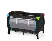 hauck Reisebett Sleep´n Play Center Multicolor Black - schwarz