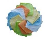 Babymajawelt® 14658 Molton Flanell Waschlappen 25/25 - 10er Set Junge bunt