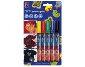 Textilstifte dunkle Stoffe, 5 Stück Kinder