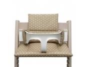 Blausberg Baby - Sitzkissen *41 FARBEN* Kissen Polster Set für Stokke Tripp Trapp Hochstuhl (Beige Sterne) alle Materialien OEKO-TEX ® Standard 100 zertifiziert - 100% made in Hamburg