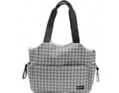 Damero Große Wickeltasche Wasserdichte Handtasche Windeltasche mit Wickelauflage und Stroller Hooks (Grau Punkt)