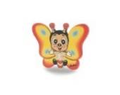 Nachtlicht Schmetterling LED-Leuchte aus stabilem Sperrholz handbemalt 14x10,5x7,5 cm