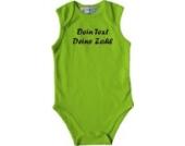 ShirtInStyle Babybody mit deinem Wunschdruck veredelt, Farbe lime, Größe 74-80