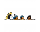 Wandtattoo XL Yakari, und seine Freunde