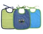 3 tlg. Lätzchen Set 3 Binde Lätzchen Farbe blau und grün Größe: 25x30 cm
