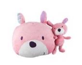 Labebe - Baby Püsch Kissen Kindersofa Dekokissen Kinderzimmer - 3 zur Auswahl (rosa Hund)