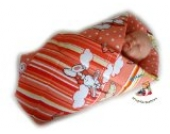 BlueberryShop SPIELMATTE Wickeldecke, Eischlagdecke, Decke, Schlafsack für Neugeborene, GESCHENK 0-4M 100% Baumwolle (0-3m) (78 x 78 cm) Rosa Schaf