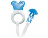 MAM Kühlbeißring Mini Cooler & Clip blau / weiß