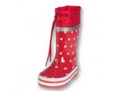 Playshoes Girls Gummistiefel Punkte rot - Mädchen