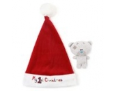 Tiny Tatty Teddy Me to You My 1st Christmas Santa Hat und weiche Spielzeug Baby Rassel