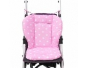 Universal Kinderwagen Sitzauflage Baumwolle, Buggy Auflage (Rosa)