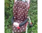 Universal Kinderwagen Sitzauflage Baumwolle, Buggy Auflage (Kaffe)