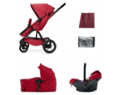 Concord Buggy Wanderer Mobility-Set Ruby Red - rot