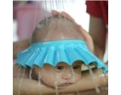 DDLBiz® Schampoo Baden Dusche schützen weiche Kappe Hut für Baby-Kinder (Blau)