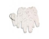 Essential One - Schlafanzuge/Schlafanzug/Einteiler/langarmeliger Body/ Strampler (3-er Pack mit Beutel) ESS39