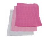 Jollein 536-848-64864 Mull Waschlappen, 3 pack, fuchsia/rosa/weiß