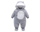 EOZY Baby Strampler Overall Winterjacke Onesie Unisex Cartoon (90-Brust 72cm, Grau)