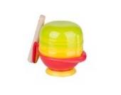 Tofern 8-in-1 BPA Freier Baby Kinder Entsafter Obstsaft Filter Babynahrung (Obst Gemüse) Mühle Schleifer mit Mikrowellengeeignetem Schüssel - Rote Schüssel