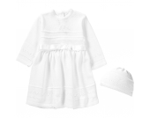 Baby Set aus Taufkleid +Mütze LENA Gr. 68 Mädchen Baby