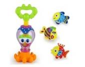 Highdas Baby-Bad-Spielwaren Tier Bei?ringe Rasseln Fun Octopus Schwimmen BPA frei Badewanne Toy Wasser Squirter f¨¹r ¨¹ber 6 Monate alten Kinder Kleinkinder Fun Bathtime Gro? Weihnachten und Geburtstag-Geschenk