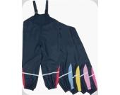 Kinder-Regenhose Tr�gerhose Serie BASIC Gr��e 140 in marine/pink