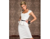 Knielanges Kleid in WEISS Gr��e S