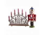 Bodo Hennig Puppenhaus Miniatur Schwibbogen & Nussknacker